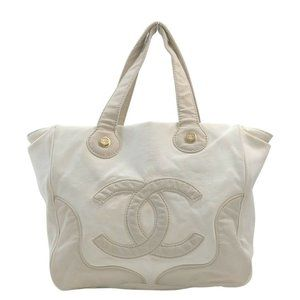 Auth Chanel Marshmallow Tote Bag Beige #N79798H30